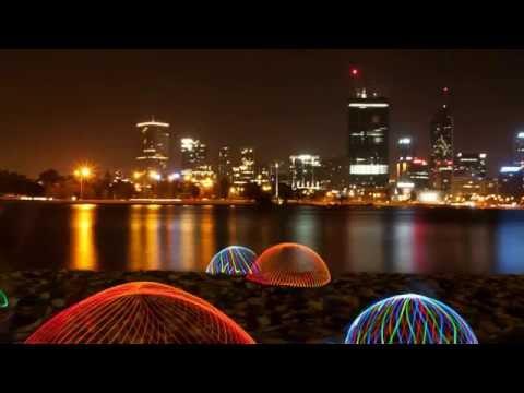 Perth City Skyline. 8 Minutes Video HD