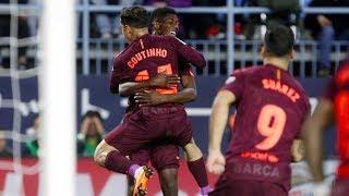 Malaga vs Barcelona [0-2], La Liga, 2018 - Match Review