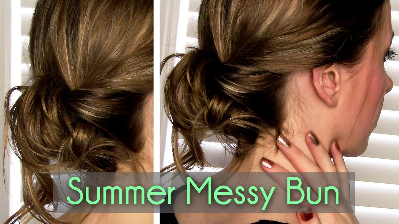 Messy Twisted Bun In 2 Minutes Rachhloves Youtube