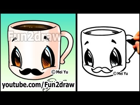 coffee-cup-with-mustache---easy-cartoon-drawing-tutorial-|-fun2draw