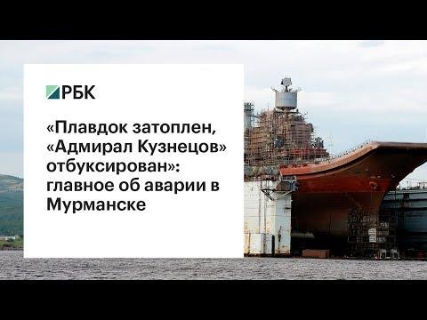 """«Плавдок затоплен, """"Адмирал Кузнецов"""" отбуксирован»: главное об аварии в Мурманске"""