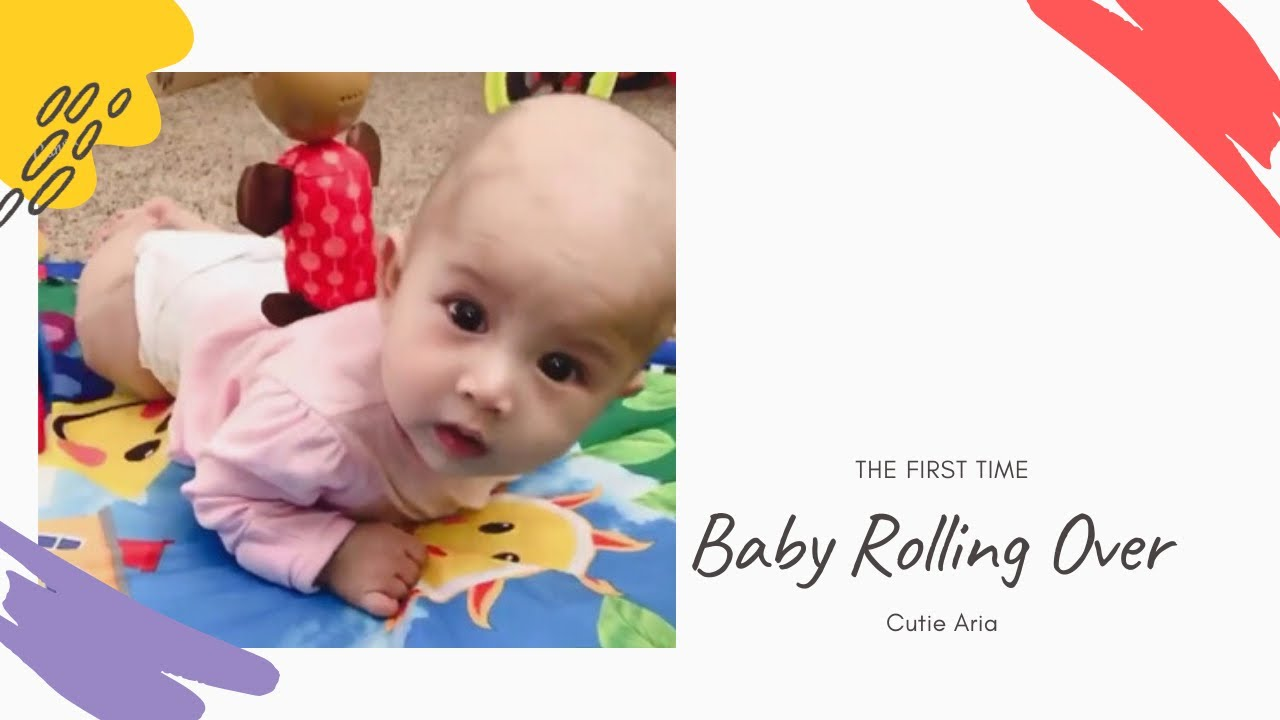 Baby Rolling Over First Time - 3 Months Old - YouTube