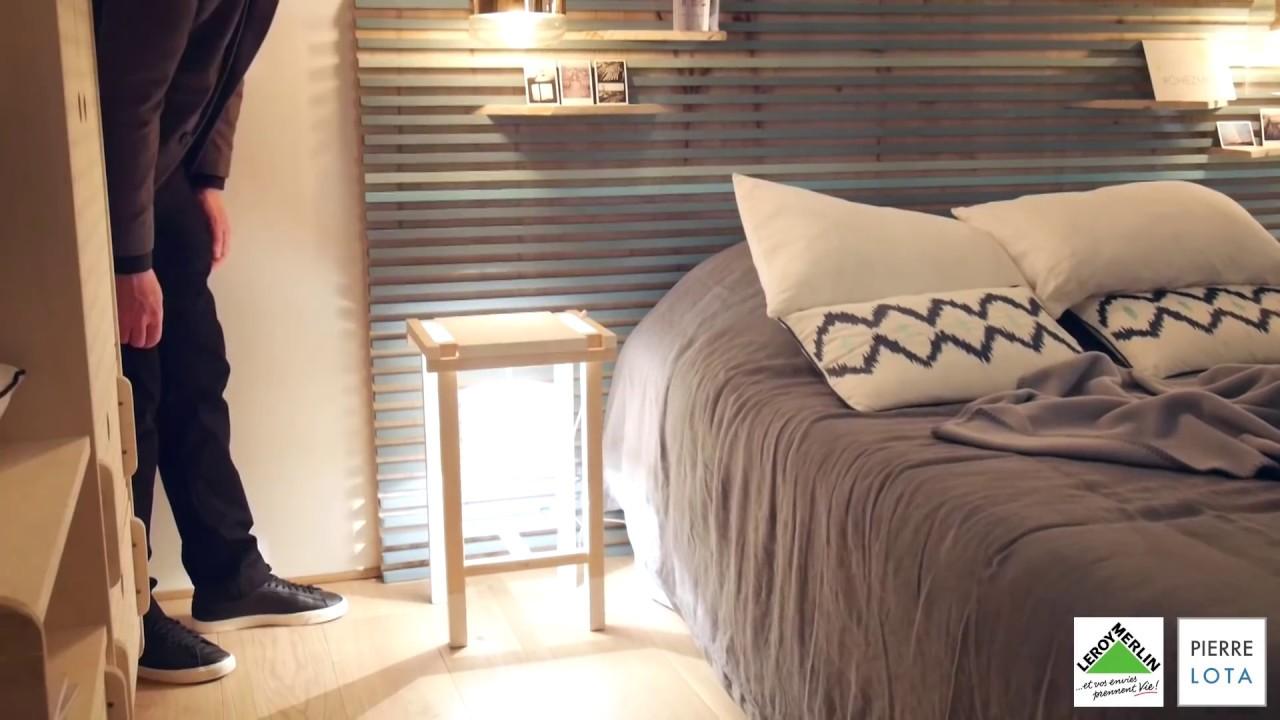 excellent comment raliser une table de chevet avec une. Black Bedroom Furniture Sets. Home Design Ideas