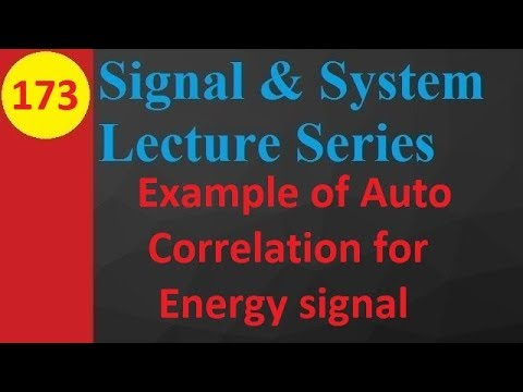 Example of Auto Correlation for Energy signal