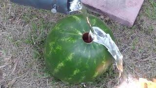 Aluminium vs Watermelon. Surprising things happen