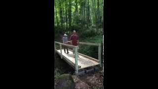 Footbridge Construction At Eastern Woodland Learning