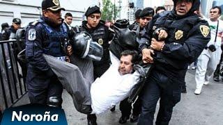 Policía Reprime a Fernández Noroña y Manifestantes en el Senado.