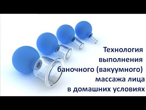 Технология выполнения вакуумного (баночного) массажа для лица. Видео №5 Вакуумный массаж лица