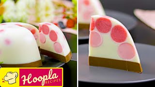Strawberry Milk Agar Dessert | Amazing Cake Decorating Ideas | Hoopla Recipes