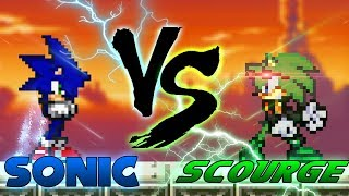 Sonic VS Scourge (pivot sprite battle)