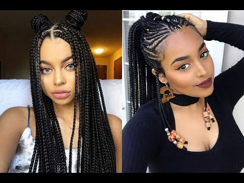 latest black hair styles braids hairstyles ideas for black 2018 2536 | hqdefault