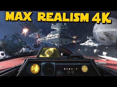 Star Wars: Battlefront Death Star | 4k 60fps, Insane Realism No HUD Gameplay