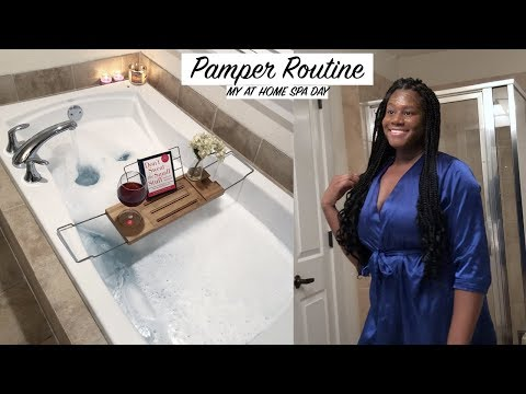 AT HOME SPA DAY SKINCARE AND PAMPER ROUTINE!! SPA NIGHT AT HOME DIY!