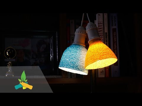 How to make lampshades with bottles | DIY Tutorial