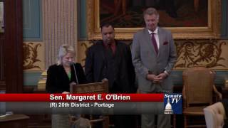 Sen. O'Brien honors the life of fallen Wayne State University K9 Officer Collin Rose