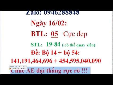 Nổ Tung BTL 48 X2 Nháy! Thần Dự Soi Cầu Ngày 16/02/2020