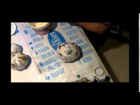 How to Make a Paper mache Pumpkin Snowman Part 1