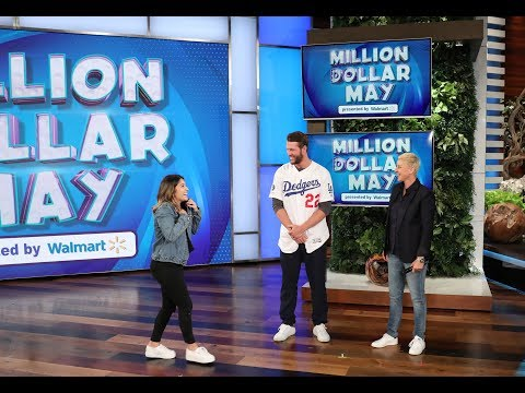 Clayton Kershaw Helps a Fan Hit a Home Run During Million Dollar May