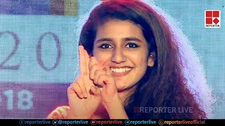 Video Priya Prakash Varrier's Flying Kiss and wink Live on stage download MP3, 3GP, MP4, WEBM, AVI, FLV Agustus 2018