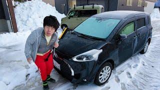 氷点下二度の雪国の車の現実。