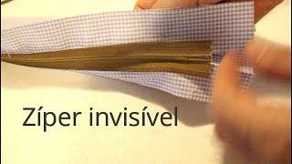 Como terminar um zíper invisível