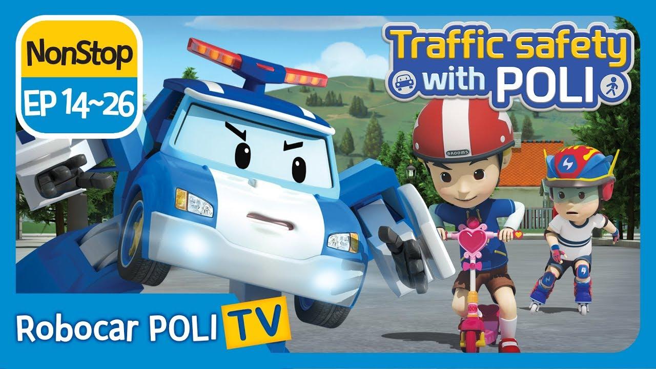 Download Traffic safety with POLI | EP 14 - 26 | Robocar POLI | Kids animation