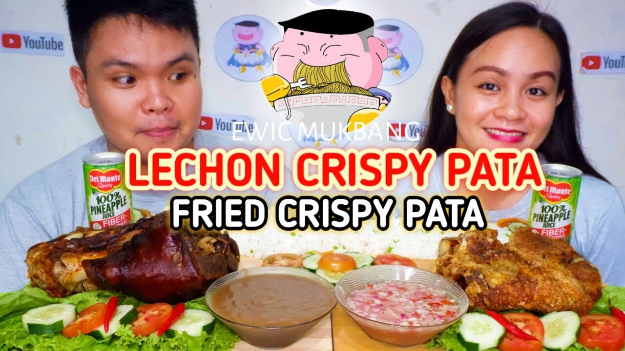 Lechon Crispy Pata At Fried Crispy Pata Mukbang / Filipino Food Mukbang / Pinoy Mukbang Philippines