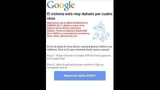 Virus dañado por cuatro el muy sistema está