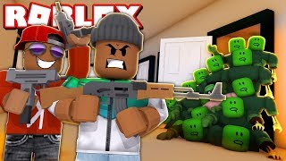 3 PLAYER SURVIVE THE ZOMBIE APOCALYPSE IN ROBLOX! (Roblox Those Who Remain)