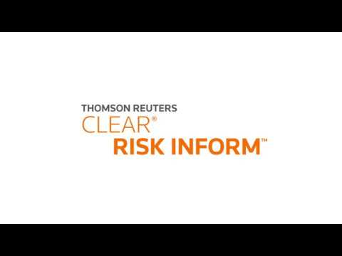 Thomson Reuters CLEAR Risk Inform Demo Video