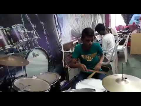 LEARNING DRUMS AT NISSI MUSIC ACADMEY