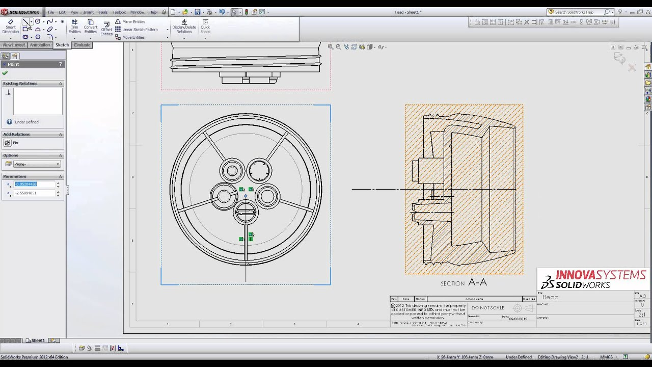 Creating A Section View In Your SolidWorks Drawings