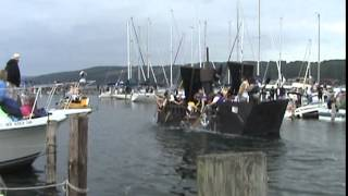 Watkins Glen Carboard Boat Regatta 6/14/14 Pirate Ship !!!