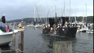 Watkins Glen Carboard Boat Regatta 6/14/14 Pirate Ship !!!