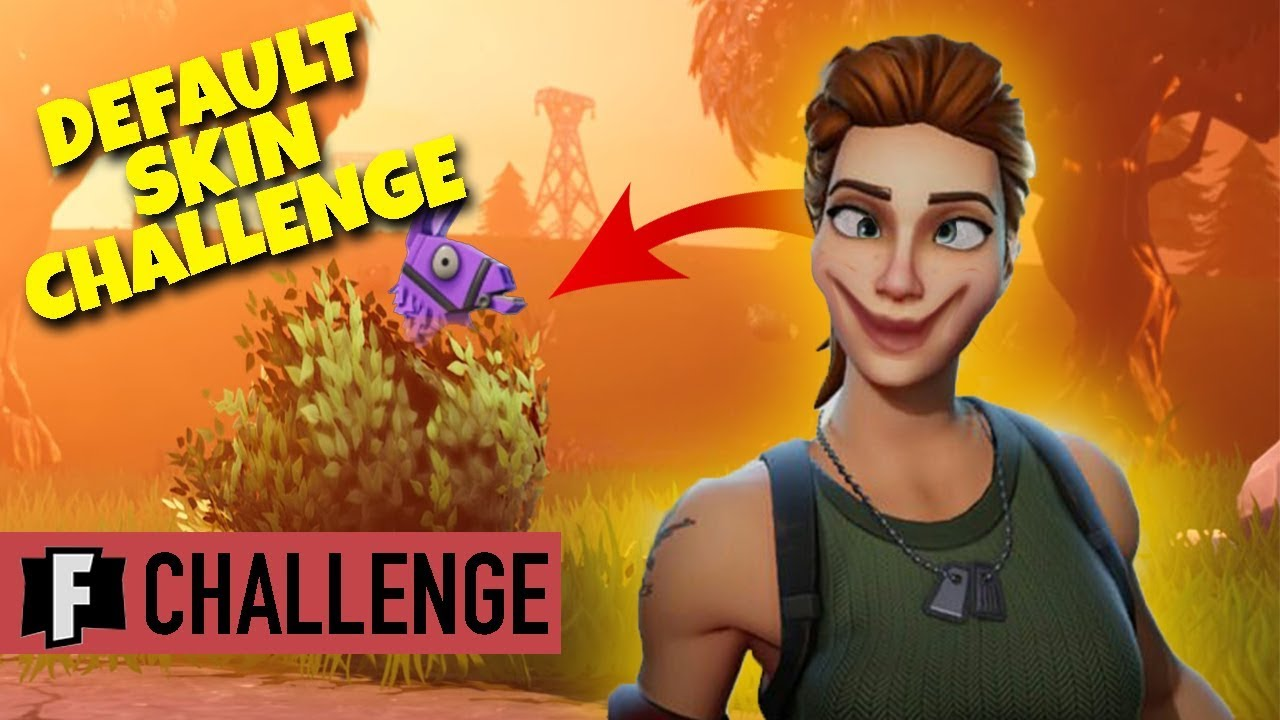 Last Fortnite Game Of Season 5 Default Skin Challenge Youtube