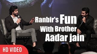 Ranbir Kapoor Masti With Brother Aadar Jain | YRF's New Talent Aadar Jain