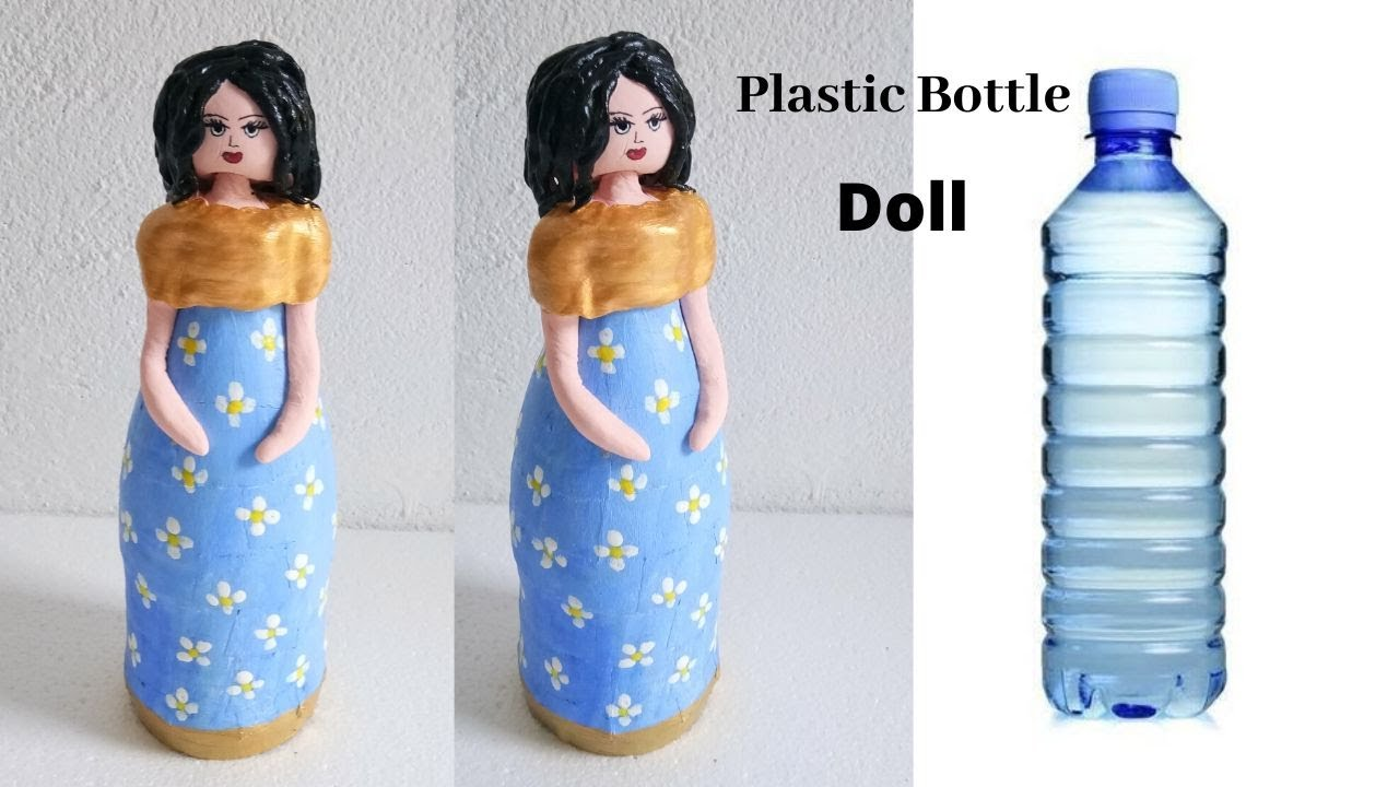 DIY Easy Doll From Waste Materials | Plastic Bottle craft By Aloha Crafts