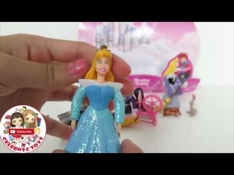 POLLY POCKET Disney Princess toys Collection Rapunzel Ariel Aurora CInderella Belle Tiana Jasmine
