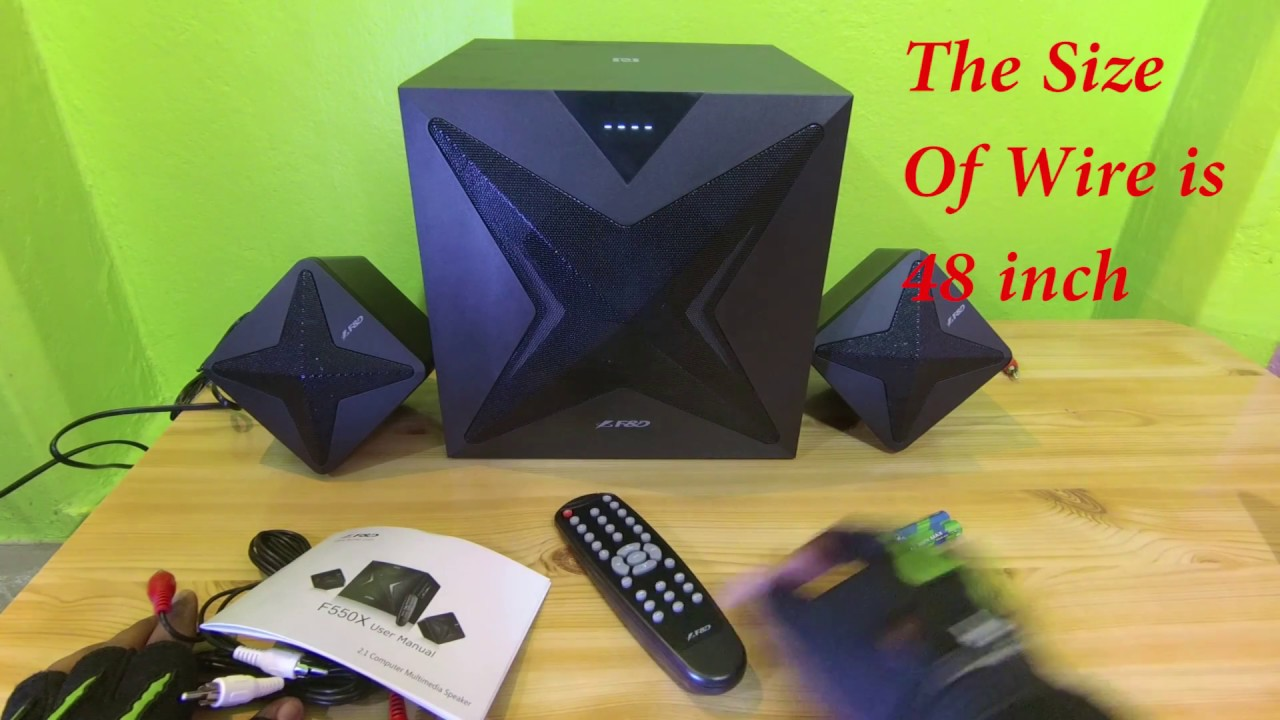 F And D F550x 2 1 Home Theatre Sound Test By Aks