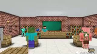 Monster school angry birds +granny+Slendrina challenge minecraft animation