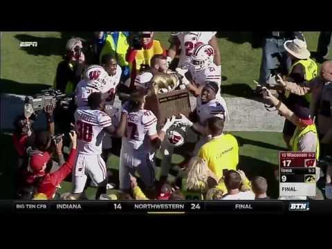 Wisconsin at Iowa - Football Highlights