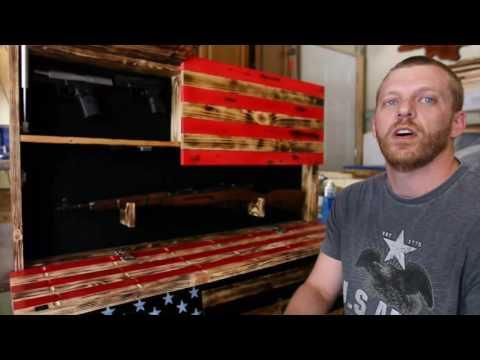 Wooden American Flag Gun Cases Made By Ryan Marler In O'Fallon