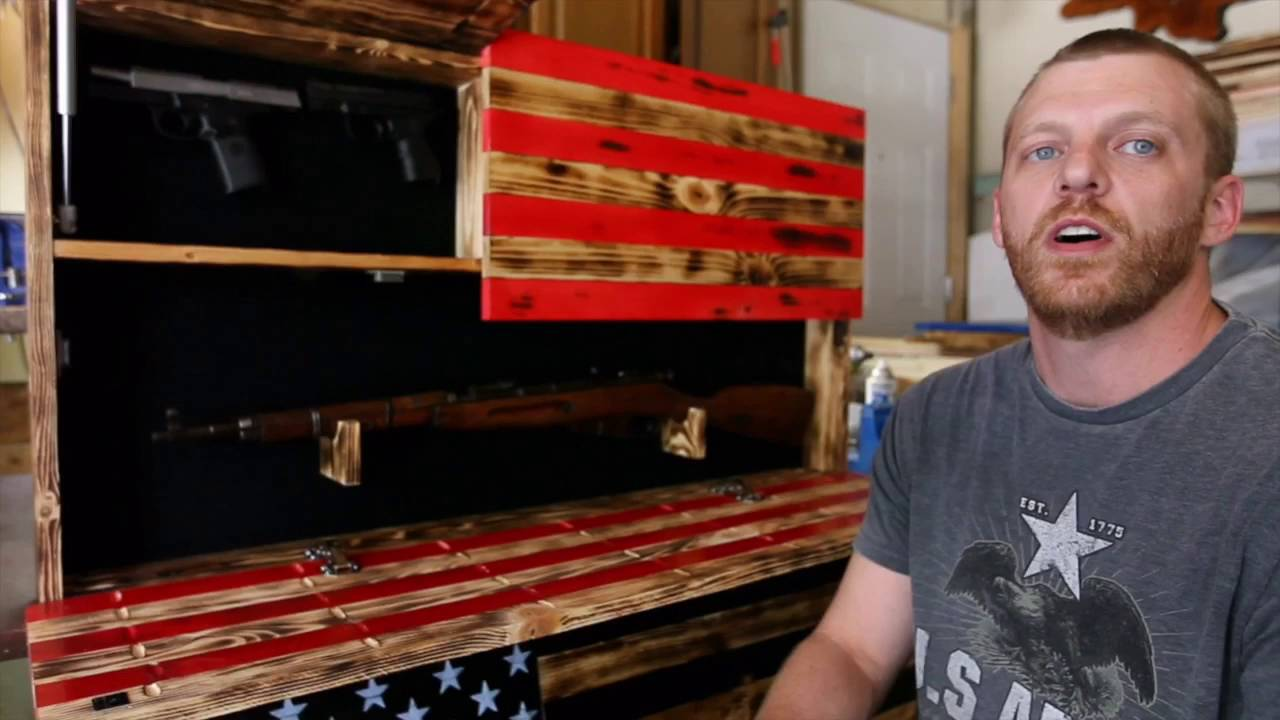 Wooden American Flag Gun Cases Made By Ryan Marler In O