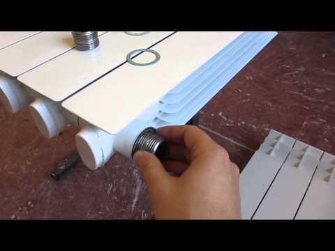 Как проверить в какую строну крутить чтобы открутить секцию радиатора отопления