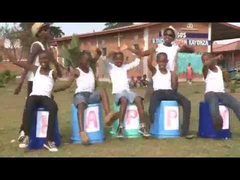 "Children from SOS Children's Villages Rwanda Dancing to Pharrell's ""HAPPY"""