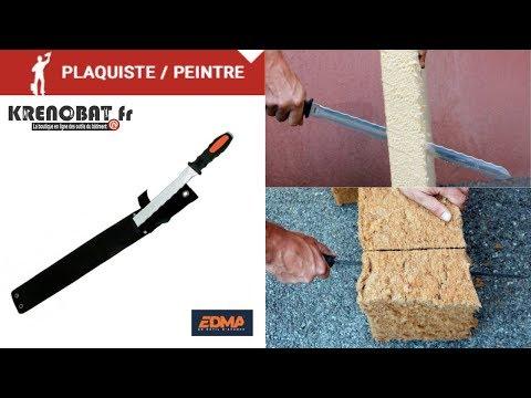 1680 couteau pour isolants et laine de verre 420 mm edma - Couteau laine de verre ...