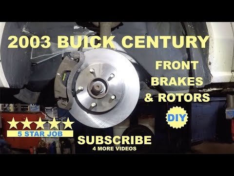 How to replace front brakes and rotors on 2003 Buick Century