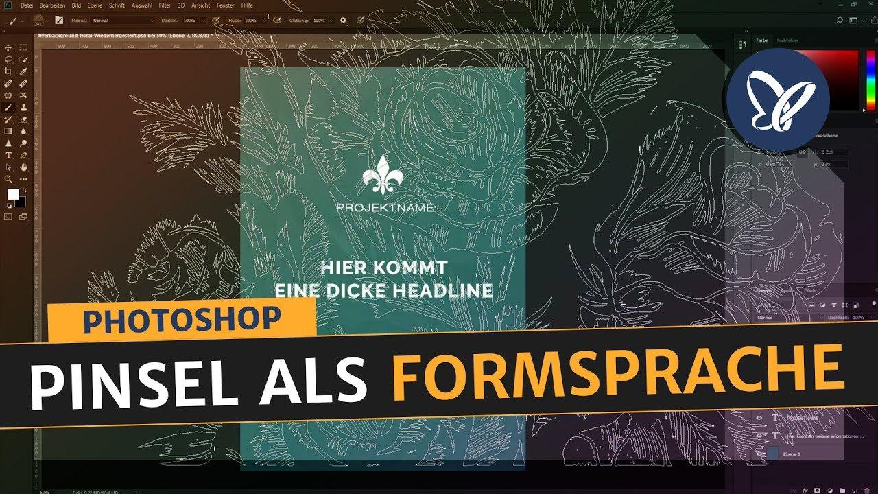 Photoshop Tutorial – Pinsel als Formsprache und Stilmittel einsetzen auf Flyer, Poster, Designs