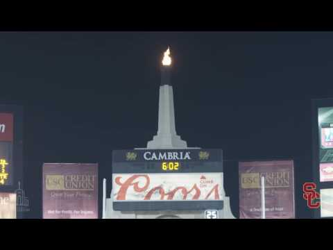 LA Coliseum Torch Lighting