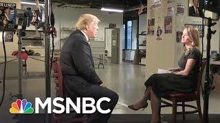 Donald Trump Talks Democratic Debate, Polls, Immigration (Full Interview)| MSNBC